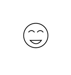 too happy emotion icon vector image