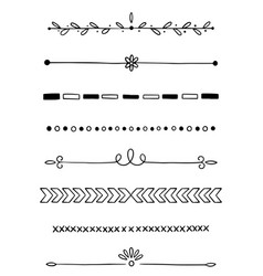 0009 hand drawn dividers vector