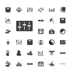 33 balance icons vector