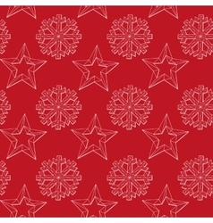 abstract background Christmas snowflakes vector image