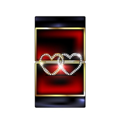 abstract box with jewelry hearts vector image