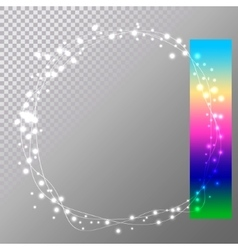 Abstract circle christmas lights easy to edit vector