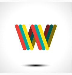 abstract icon based on letter w vector image