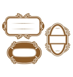 Antique vignettes and frames vector image