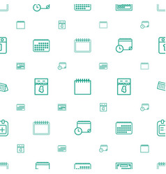Appointment icons pattern seamless white vector