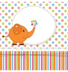 Baby background with elephant vector