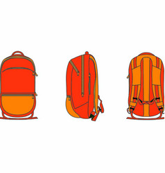 backpack 2d template vector image