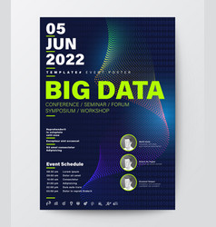 Big data conference business design template vector