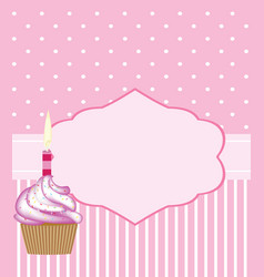 Birthday card template for girls vector