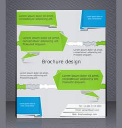 business brochure brochure design in style of vector image