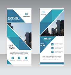 Business Roll Up Banner flat design template Abst vector