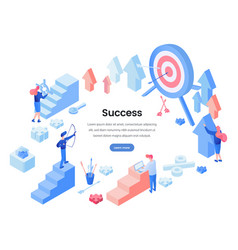 Business success landing page template vector
