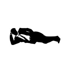 Businessman silhouette of a man nap in cabinet vector
