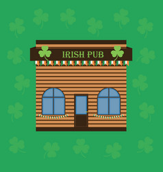 Cartoon building an irish pub or cafe vector
