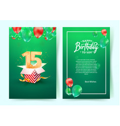 celebration 15th years birthday vector image