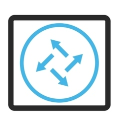 Centrifugal Arrows Framed Icon vector