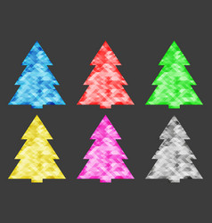 collection of abstract christmas trees of vector image