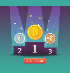 Cryptocurrency money vector