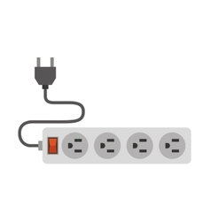 Electric multisockets isolated icon design vector