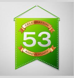 Fifty three years anniversary celebration design vector