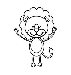 figure teddy lion icon vector image