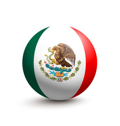 flag of mexico in the form of a ball vector image