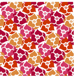 flowers seamless pattern background wild roses vector image