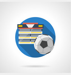 football tournament color detailed icon vector image