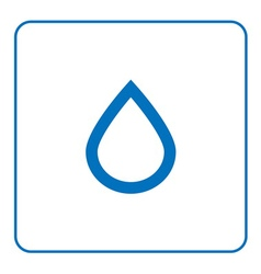 Forecast weather Water drop icon vector