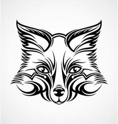 Fox Head Tattoo Design vector image