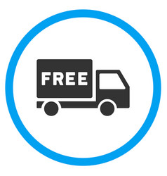 Free delivery rounded icon vector