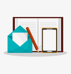 Gadget and writing materials related icons image vector