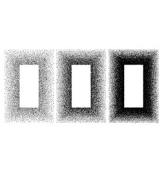 grunge spray stencil rectangle frames gradient vector image