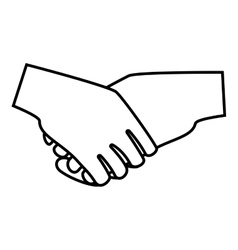 Handshake deal isolated icon vector