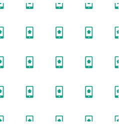 home on phone display icon pattern seamless white vector image
