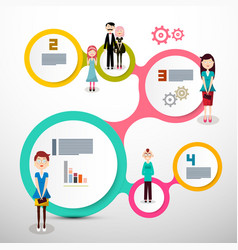 infograpics with people layout vector image