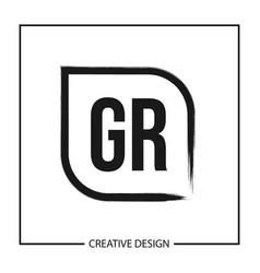 Initial letter gr logo template design vector