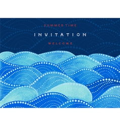 Invitations card on navy blue background vector