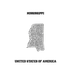 Label with map of mississippi vector image