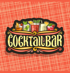 Logo for cocktail bar vector