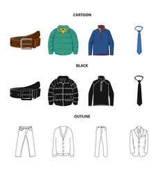 man and clothing sign set vector image