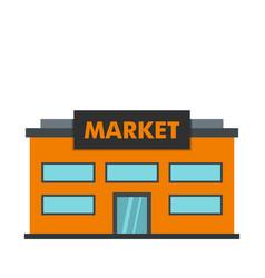 Market icon flat style vector