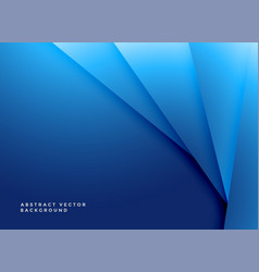 minimal blue geometric shapes background vector image