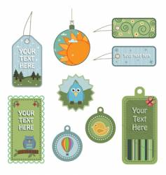 nature tags vector image