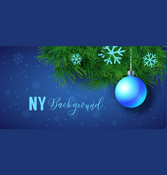 New year background with christmas ball vector