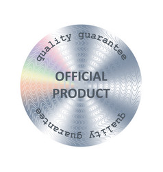Official product hologram vector