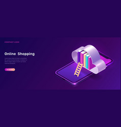 online library or education isometric concept vector image