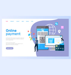 online payment web page computer and smartphone vector image