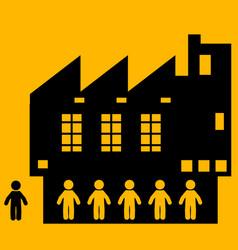 People factory workers cartoon vector