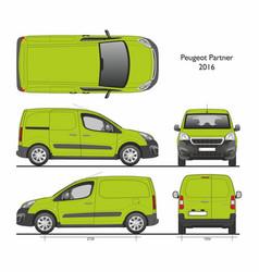 Peugeot partner l1 2016 professional cargo van vector